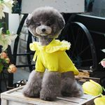 도트 꽃 후드 티셔츠 옐로우(M041)
