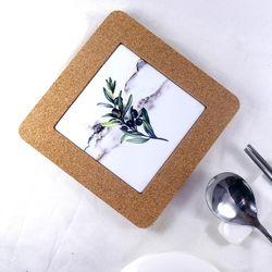 보타니컬 식물 냄비받침 올리비아 6종 [육각.사각]