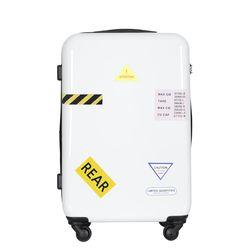 컨테이너PC 하드 여행가방 24인치 캐리어 화이트