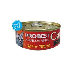 프로베스트 캣 캔 참치 게맛살 80g 24개고양이간식
