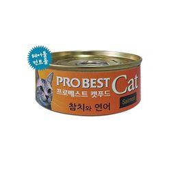 프로베스트 캣 캔 참치 연어 80g 24개고양이간식