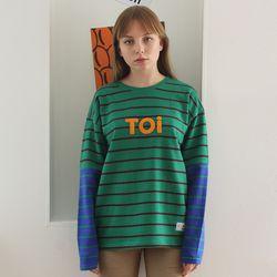 TOi TOKYO 그린 ST 티셔츠 배색 블루