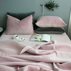 모달벨로아 핑크 여름이불-퀸기본세트