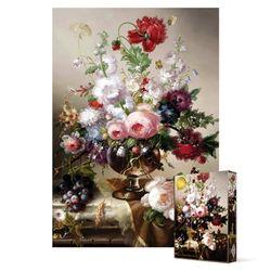 1000피스 직소퍼즐  꽃이 만발한 꽃병과 나비