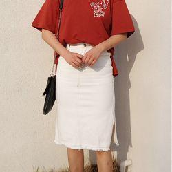 Cotton stitch skirt