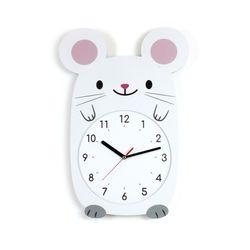 무소음 아이방 벽시계 동물친구들 - 생쥐
