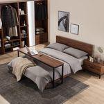 아뜰리에 멀바우 퀸사이즈 침대 A + 베드테이블