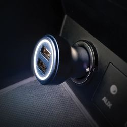 레드빈 2포트 차량용 고속 충전기 듀얼 시거잭 충전