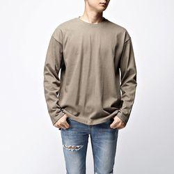 [매트블랙] 10수 워싱 무지 티셔츠
