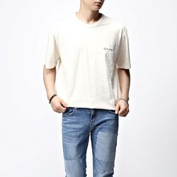 [매트블랙] 뉴욕 슬라브 반팔 티셔츠
