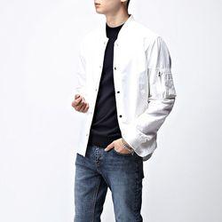 [매트블랙] 리버시블 블루종 셔츠 자켓