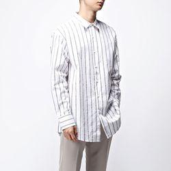 [매트블랙] 스트라이프 빅 오버 셔츠