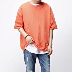 [매트블랙] 피그먼트 박스 반팔 티셔츠
