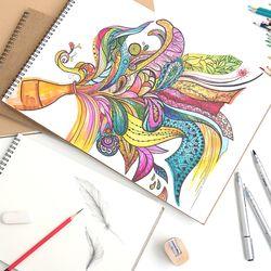 스케치북 수채화드로잉북 A3