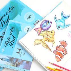 스케치북 수채화드로잉북 A4
