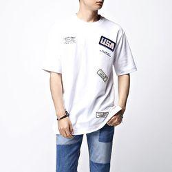 [매트블랙] 자수 와펜 반팔 티셔츠2