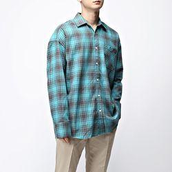 [매트블랙] 미로 워싱 체크 셔츠