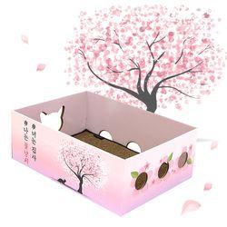 노리노리 고양이 스크래쳐박스 벚꽃에디션