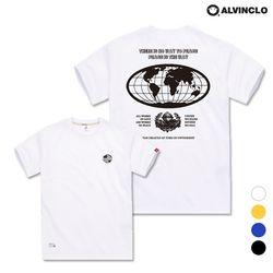 [앨빈클로] AST-3530w EARTH 오버핏 반팔 티셔츠