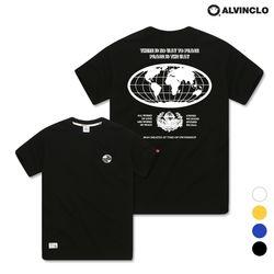 [앨빈클로] AST-3530b EARTH 오버핏 반팔 티셔츠