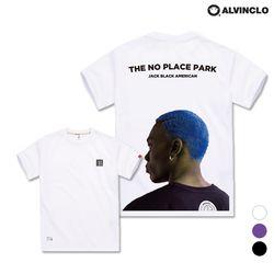 [앨빈클로] AST-3529w NO PLACE 오버핏 반팔 티셔츠