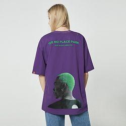 [앨빈클로] AST-3529 NO PLACE 오버핏 반팔 티셔츠