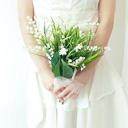 은방울꽃 웨딩부케 + 화관 + 부토니에