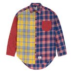 MULTI OVERSIZED CHECK SHIRTS RED