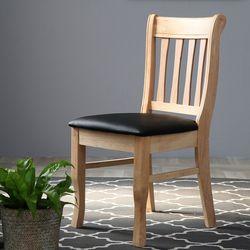DMA 원목 내츄럴 의자 2개
