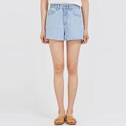 simple cutting half denim pants (s m)