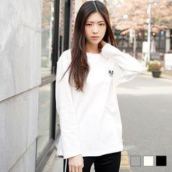 2099 피스 긴팔 티셔츠 (3colors)
