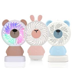 비스비 휴대용 LED 선풍기