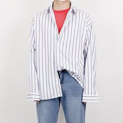 Cool stripe pattern overfit shirts