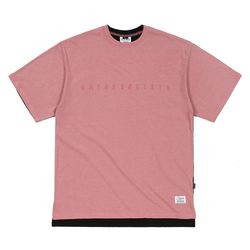 FRONT BACK OVERSIZED PIGMENT T-SHIRTS PINK