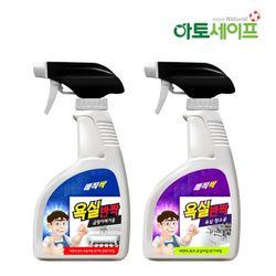 매직싹 욕실반짝 욕실용세정제곰팡이청소용500ml 4개