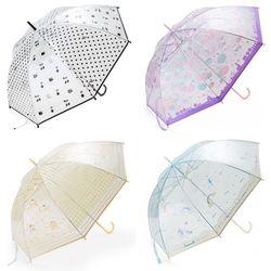 산리오 캐릭터 수동 투명 장우산 (4design)(60cm)