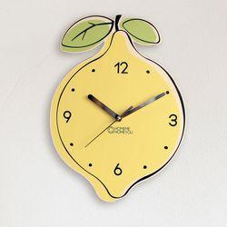 맛있는 벽시계 일러스트 과일 디자인 레몬(LEMON)