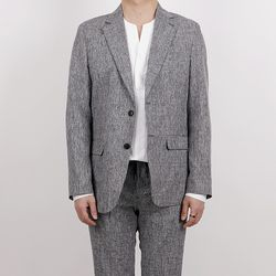 Linen banding suit jacket
