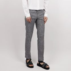 Linen banding suit pants
