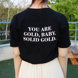 베이비 자수 반팔 티셔츠 (2color)