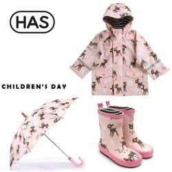 HAS 헤즈 아동레인코트 레인부츠 우산-아기사슴 3종