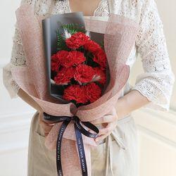 10송이 비누카네이션 허니테일꽃다발 [2color]