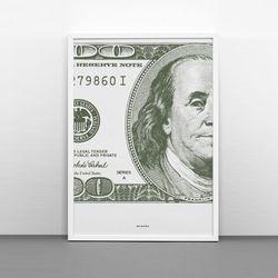 유니크 디자인 포스터 M 100달러지폐 A3(중형)