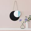 MOON MIRROR(BLACK) - ON THE WALL