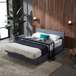 스칸델리 그레이 퀸사이즈 서랍 침대