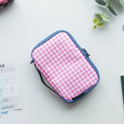MULTI POUCH TRAVEL-cherry check