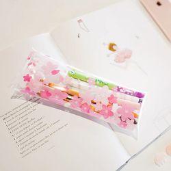 오동에발레리 벚꽃 투명 펜슬케이스