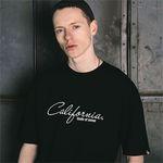 캘리포니아 야자수 그래픽 프린트 반팔티 블랙