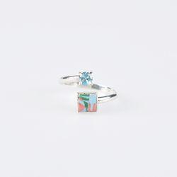 [3월 탄생석] aqua blue silver ring