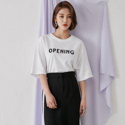 [로코식스] 오프닝 라운드 티셔츠